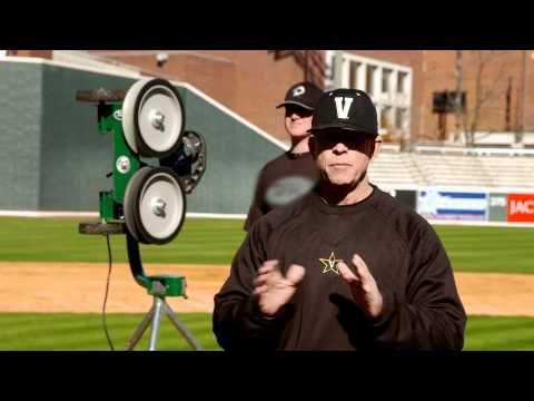 Catching Drills: Vanderbilt Baseball coach Tim Corbin uses ATEC Machines - YouTube