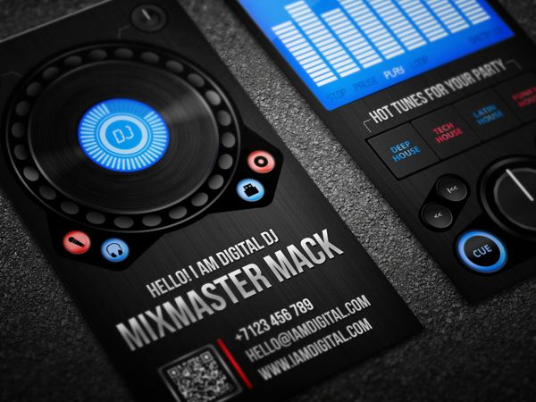 Dj business card template psd images card design and card template digital dj business card by serge gray dj business cards buy digital dj business card by colourmoves Images