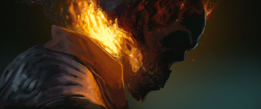 Ghost Rider | Digital painting, Ghost rider, Photoshop cs6  |Ghost Rider Digital Painting Photoshop