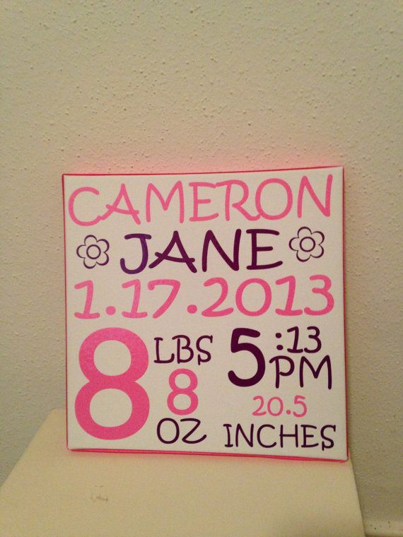 Name Plaque Birth Announcement Cameo cutter Pinterest – Birth Announcement Plaques