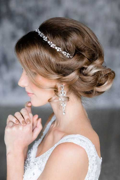 Messy Low Bun Updo Hairstyles For Wedding