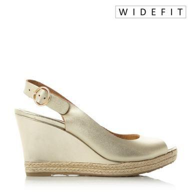 b7d4b8e496ca W KLICK - Wide Fit Espadrille Trim Wedge Sandal