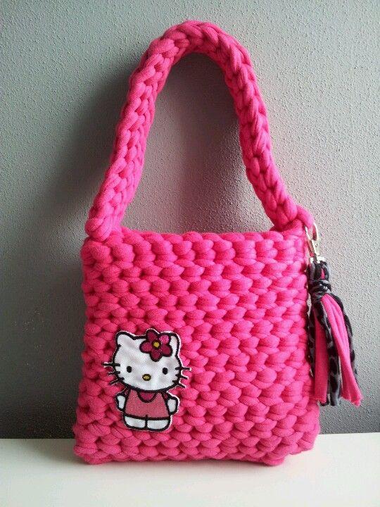 Zpagetti bag Hello Kitty | Ruční práce | Pinterest | Häkeln