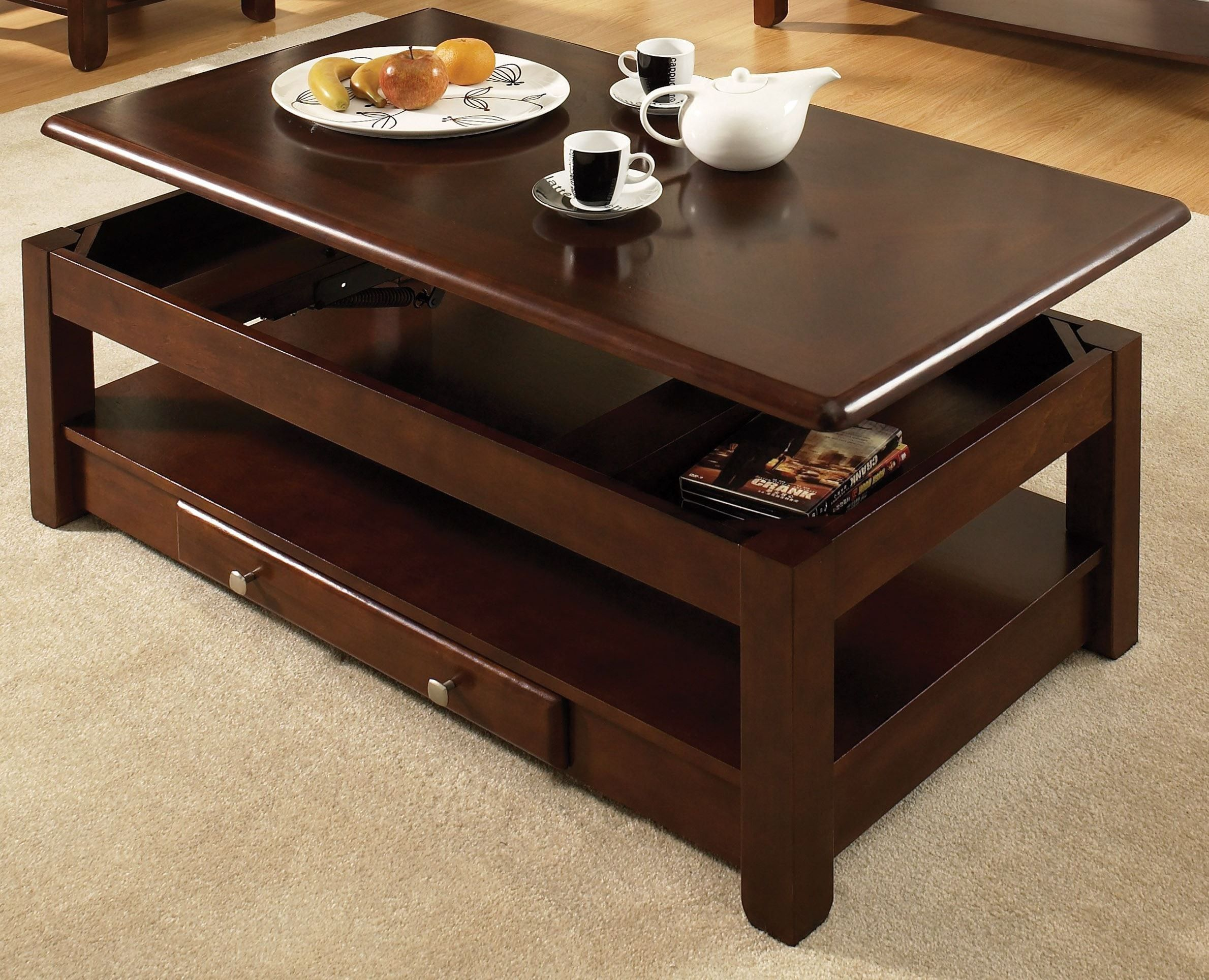 Nelson Cherry Lift Top Tail Table