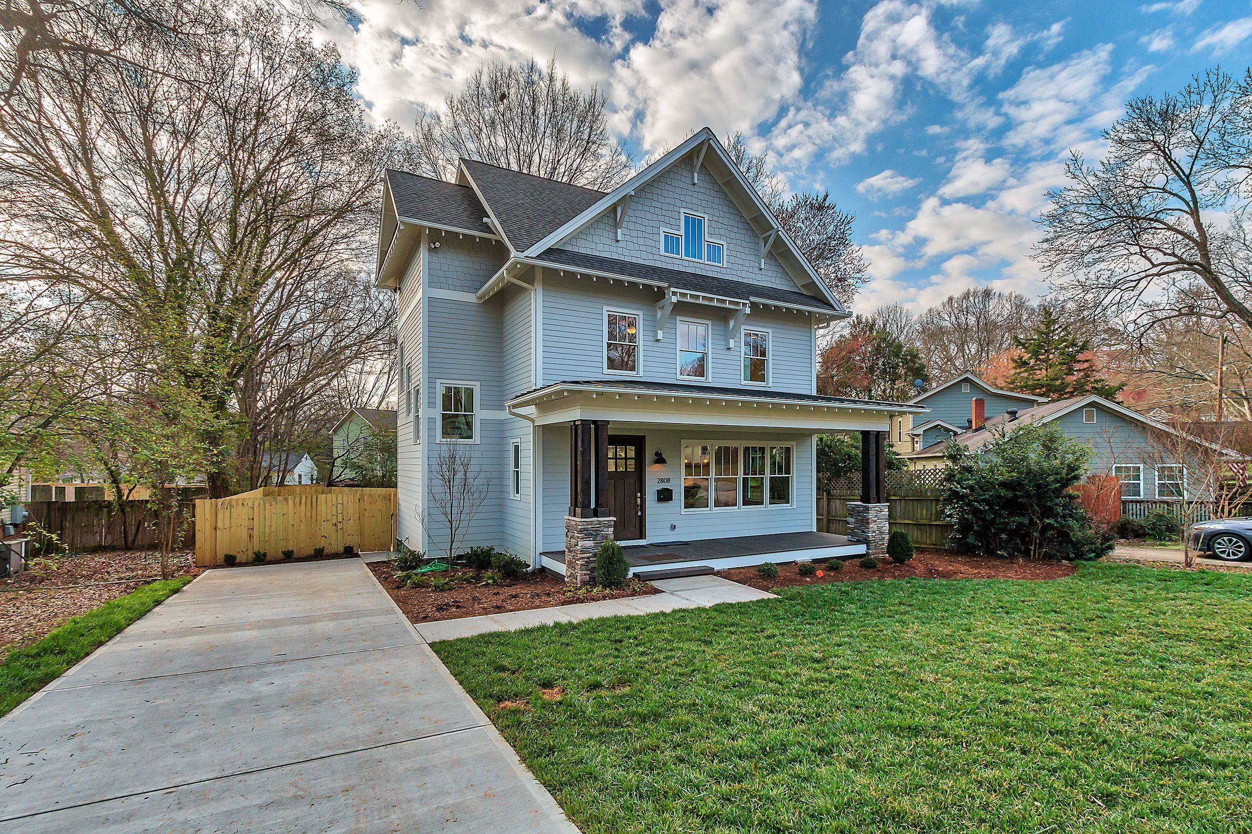 Custom craftsman home in plaza midwood charlotte nc grandfather homes