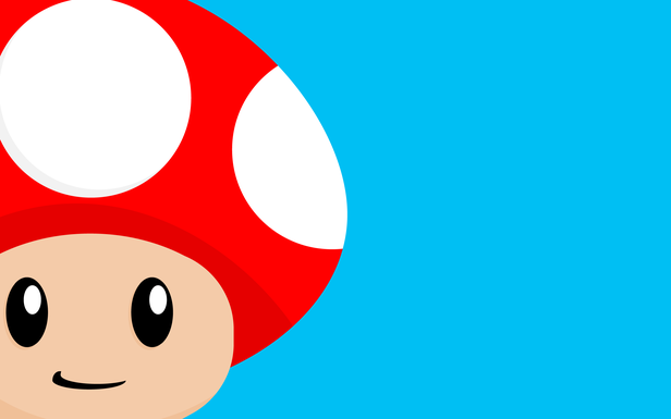What A Toadstool By Justin Page Mushroom Wallpaper Wallpaper Super Mario
