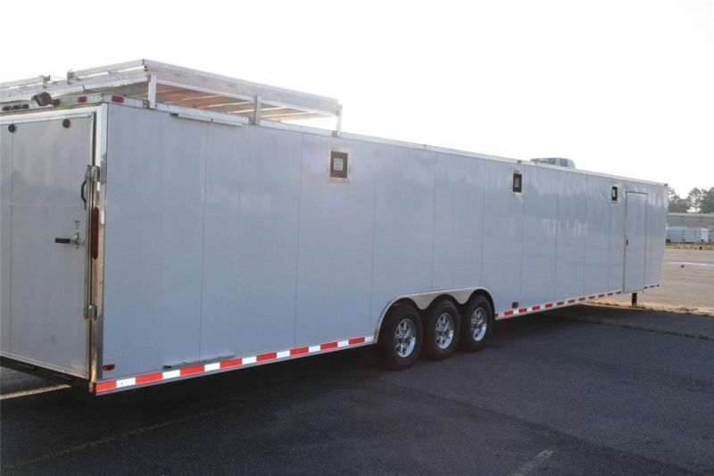 2015 New 8 5x48 Gooseneck Enclosed Cargo Trailer Car Hauler Toy Auto Racing Ramp Enclosed Cargo Trailers Cargo Trailers Car Trailer