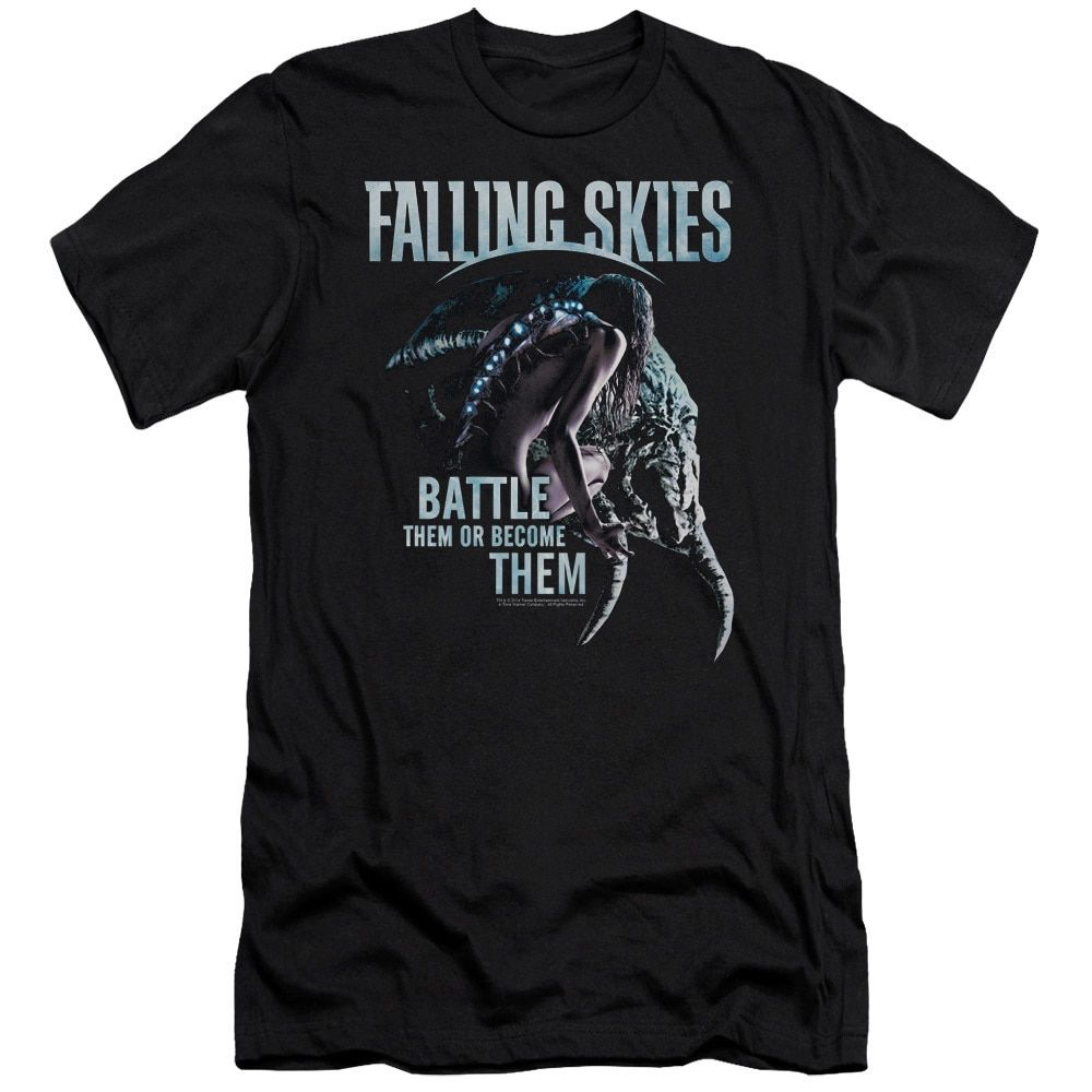 Falling Skies/Battle or Become Short Sleeve Adult T-Shirt 30/1 in