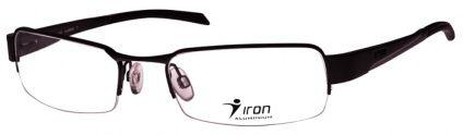 Armacao Oculos De Grau Iron Aluminio Grande 2226 Preto Fosco