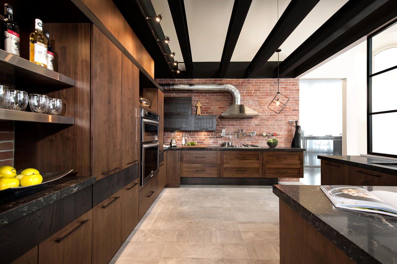 loft cuisine bois noyer frene quartz 1 full thumb karine et pierre luc pinterest noyer. Black Bedroom Furniture Sets. Home Design Ideas