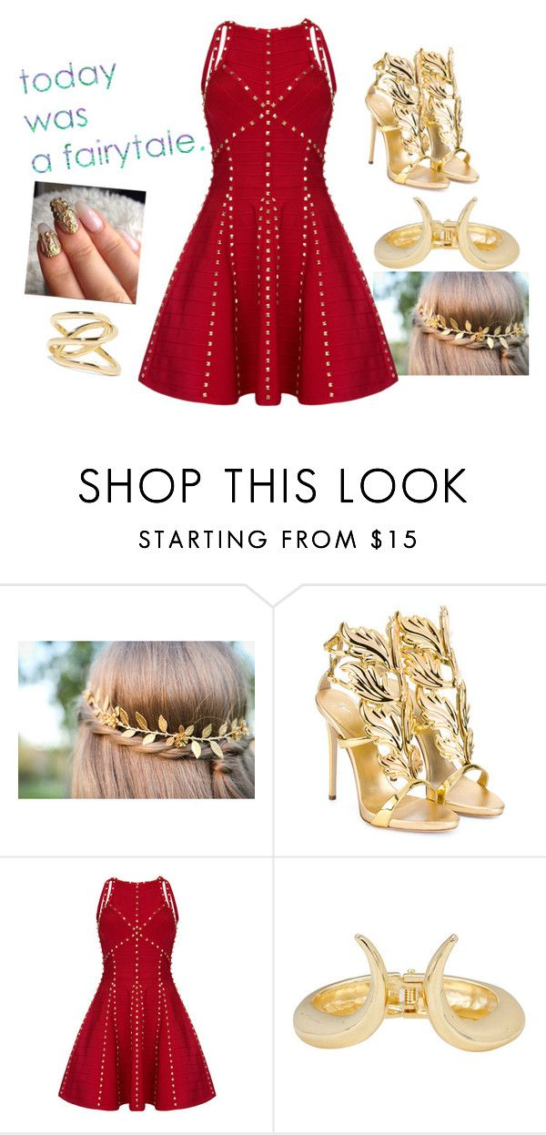 """""""another gold"""" by troylerzalfie on Polyvore featuring Giuseppe Zanotti, Jennifer Fisher, women's clothing, women, female, woman, misses and juniors"""