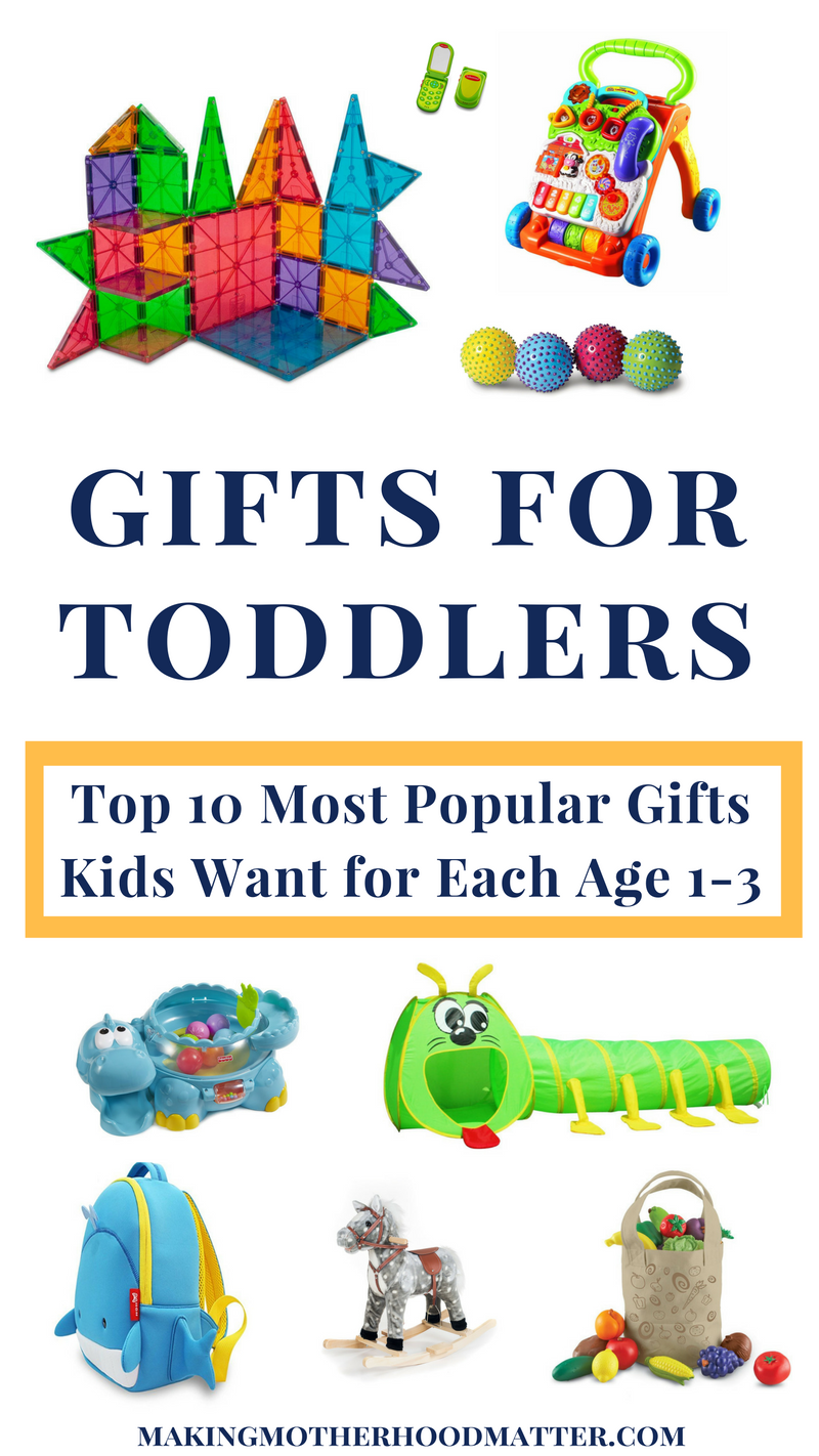 Gifts for Toddlers 1-3: 10 Popular Gifts Kids Want per Age | Toddler gifts, New baby products ...