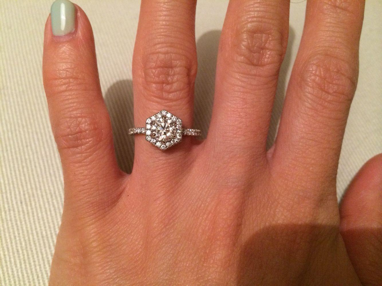 best 25+ hexagon engagement ring ideas on pinterest | engagement