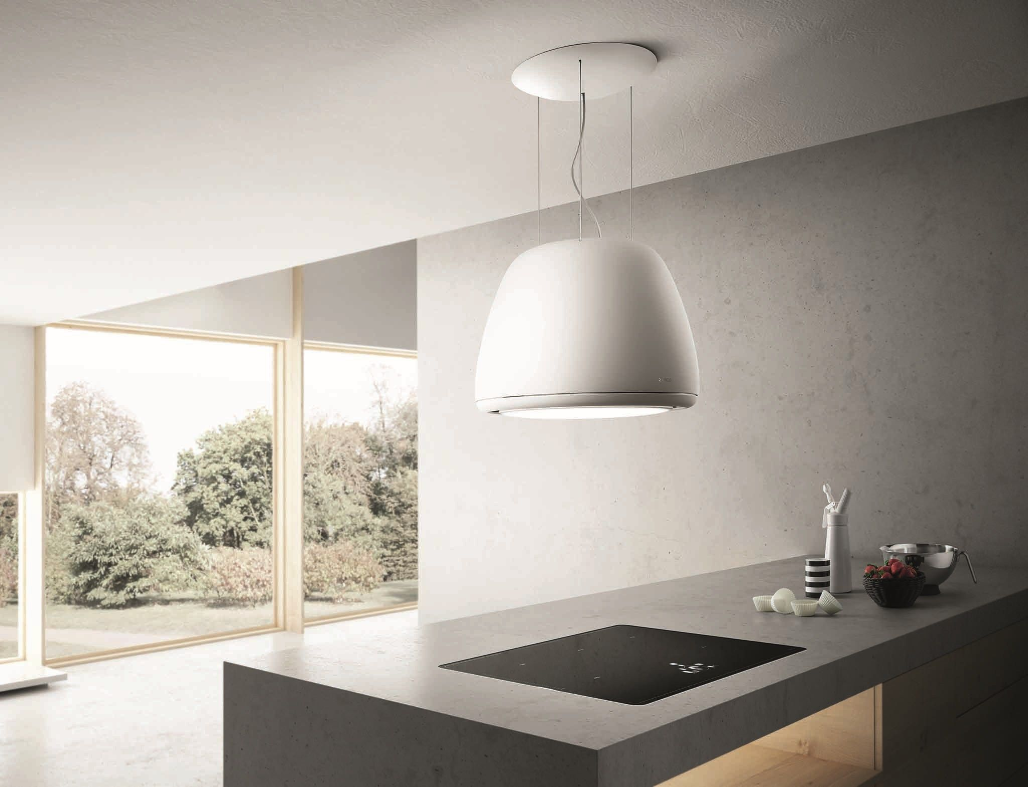 Island hood with integrated lighting ÉDITH by Elica design Fabrizio ...