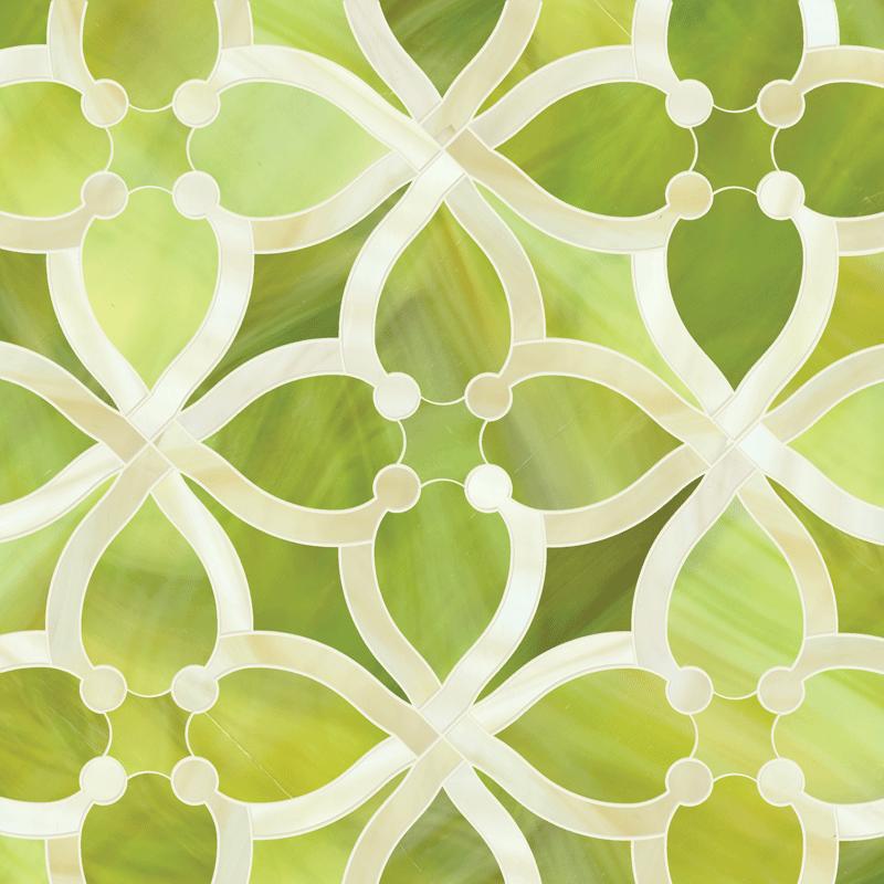 Ann Sacks Mosaic Bathroom Tile: ANN SACKS Beau Monde June Glass Mosaic In Peridot And