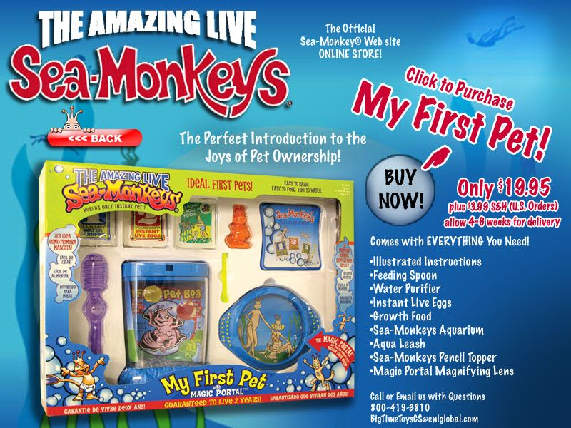 Sea Monkeys Way Better Then We Were Kids And They Didn T Hatch Great Birthday Presents Toys R Us Or Online Love Love Miniaturas Reino Animal Animales