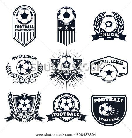 Set Of The Football Labels Emblems And Design Elements Soccer Team Emblems Logo Keren