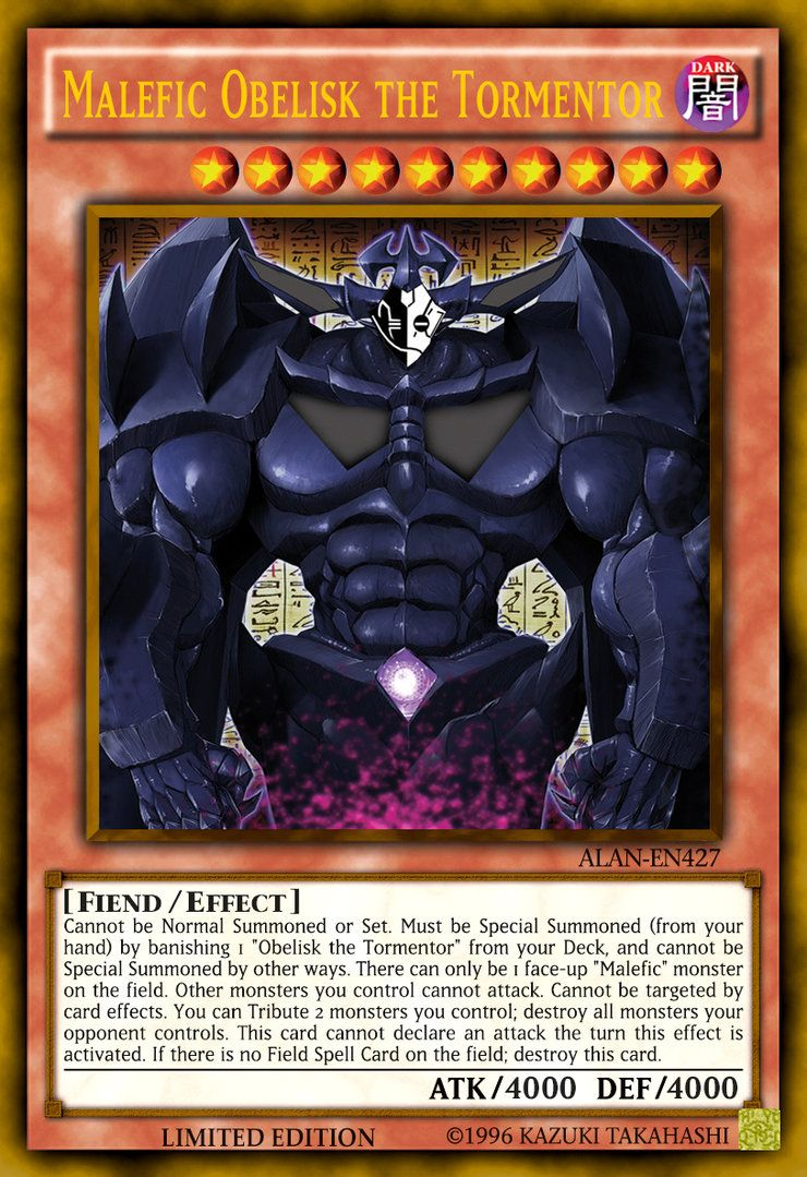Yu gi oh yu gi oh card drlg en048 prominence hand super rare - Must Be Special Summoned From Your Hand By Banishing 1 Obeli Malefic Obelisk The Tormentor Obelisk Yu Gi Oh Cards