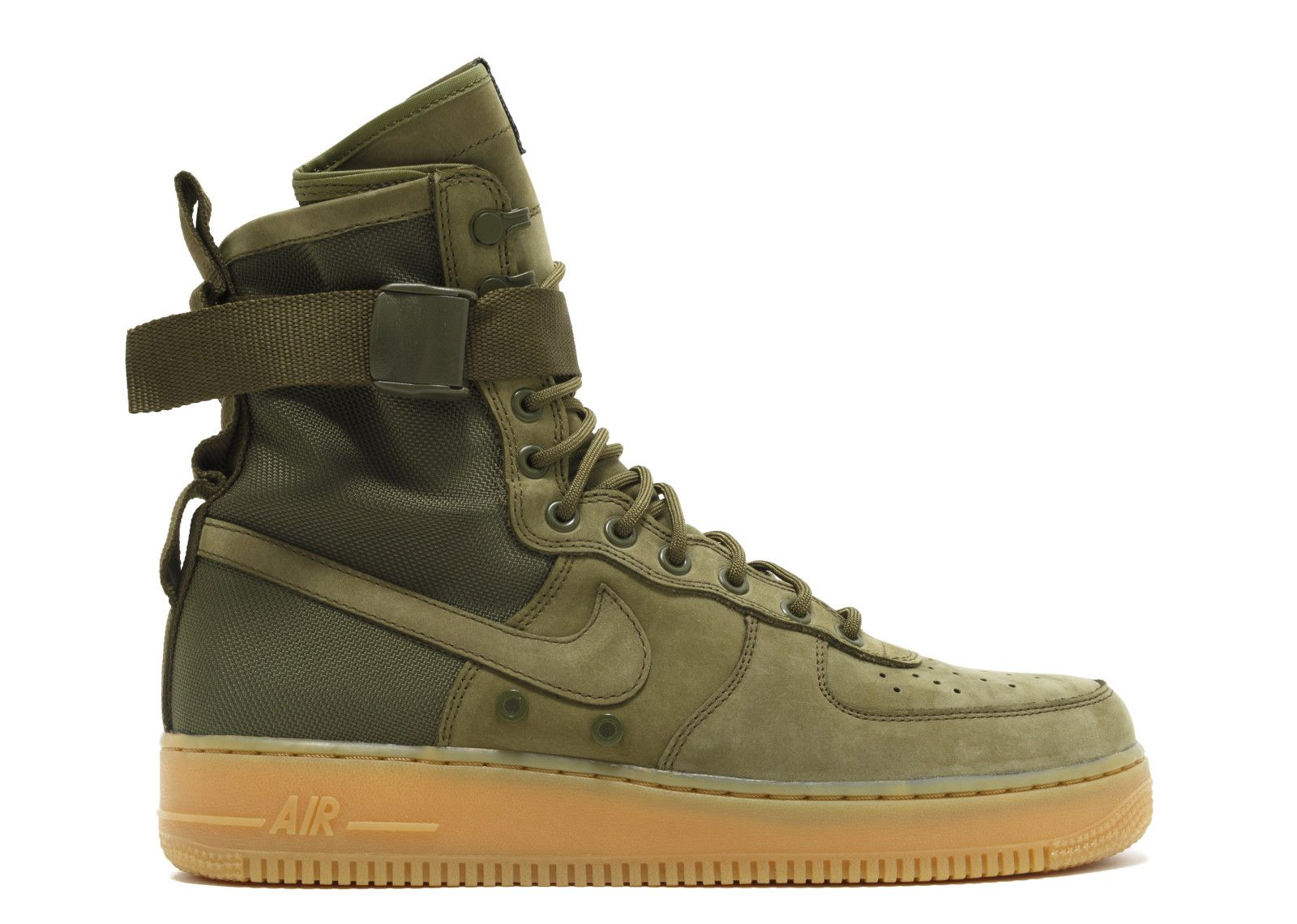 Nike Air Force 1 '07 Suede Medium Olive – Kith