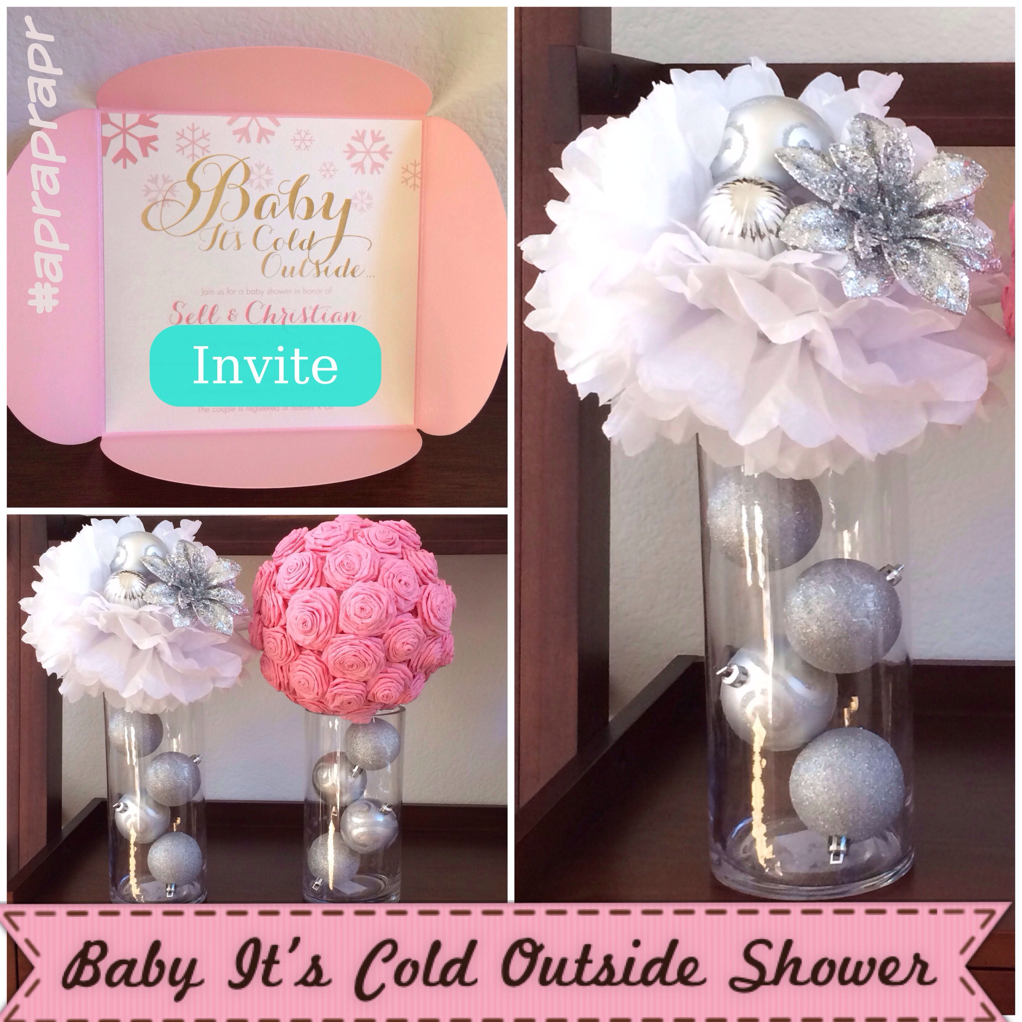 Diy Baby It S Cold Outside Centerpieces From Dollar Tree Big