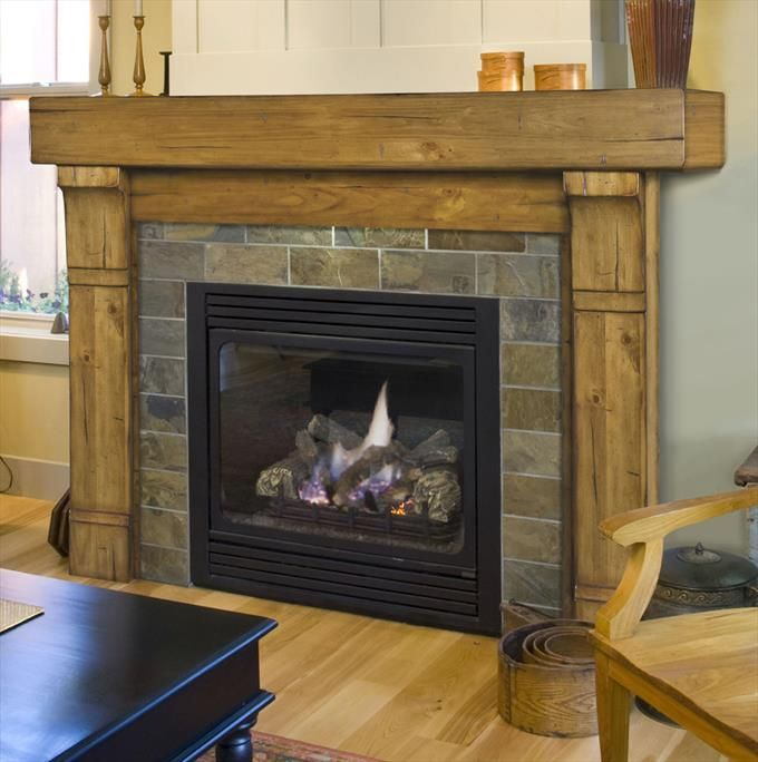 Cumberland 56 Wood Fireplace Mantel In Natural Distressed Wooden Fireplace Wood Fireplace Surrounds Rustic