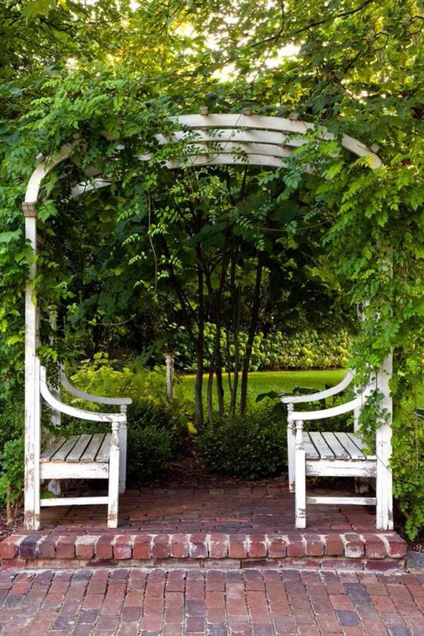 Eye Catching Design Ideas for Patio Arbors is part of Comfortable garden Seating - An arbor is a vertical structure in a landscape, patio or in a garden, that serves as an accent, provide shade and privacy as …