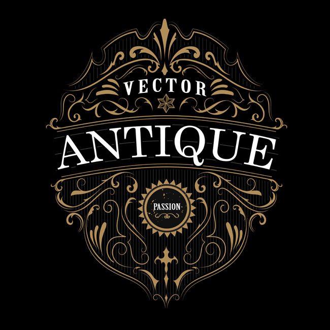 Vintage Label Typography Antique Frame Design Border On Behance Antique Logo Design Vintage Labels Vintage Typography