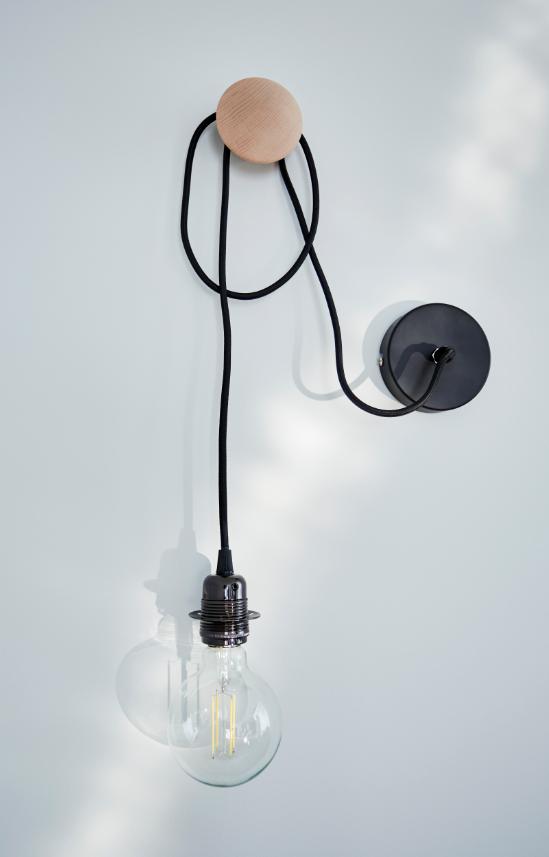 Monture Suspension Sampa Helios Métal Noir E27 Ampoules