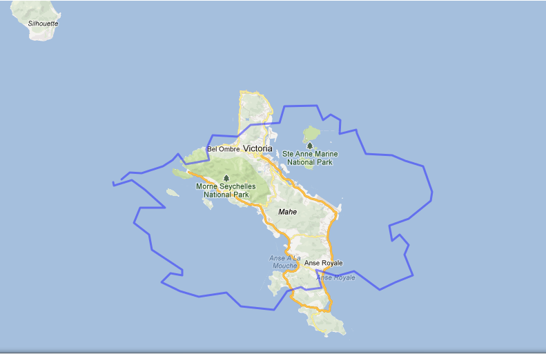 Prague Over Mahé Island Seychelles Httpmapfrappecom - Seychelles interactive map