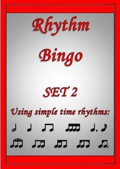 RHYTHM BINGO 2  Make learning rhythms easy and fun for your students!  Rhythm Bingo Set 2 using more challenging rhythms that Rhythm Bingo 1.  http://www.teacherspayteachers.com/Product/MUSIC-Rhythm-Bingo-2