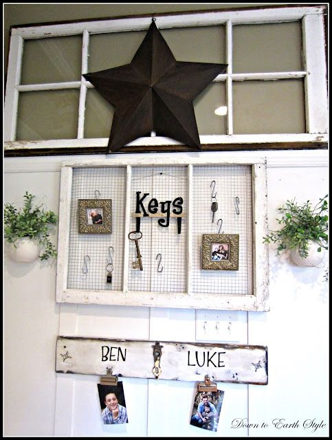 Down to Earth Style Decorating with Old Windows u0026 Where to Find Them  sc 1 st  Pinterest & Here is an idea for keys... (my blog) | DIY u0026 Decorate the Home ...