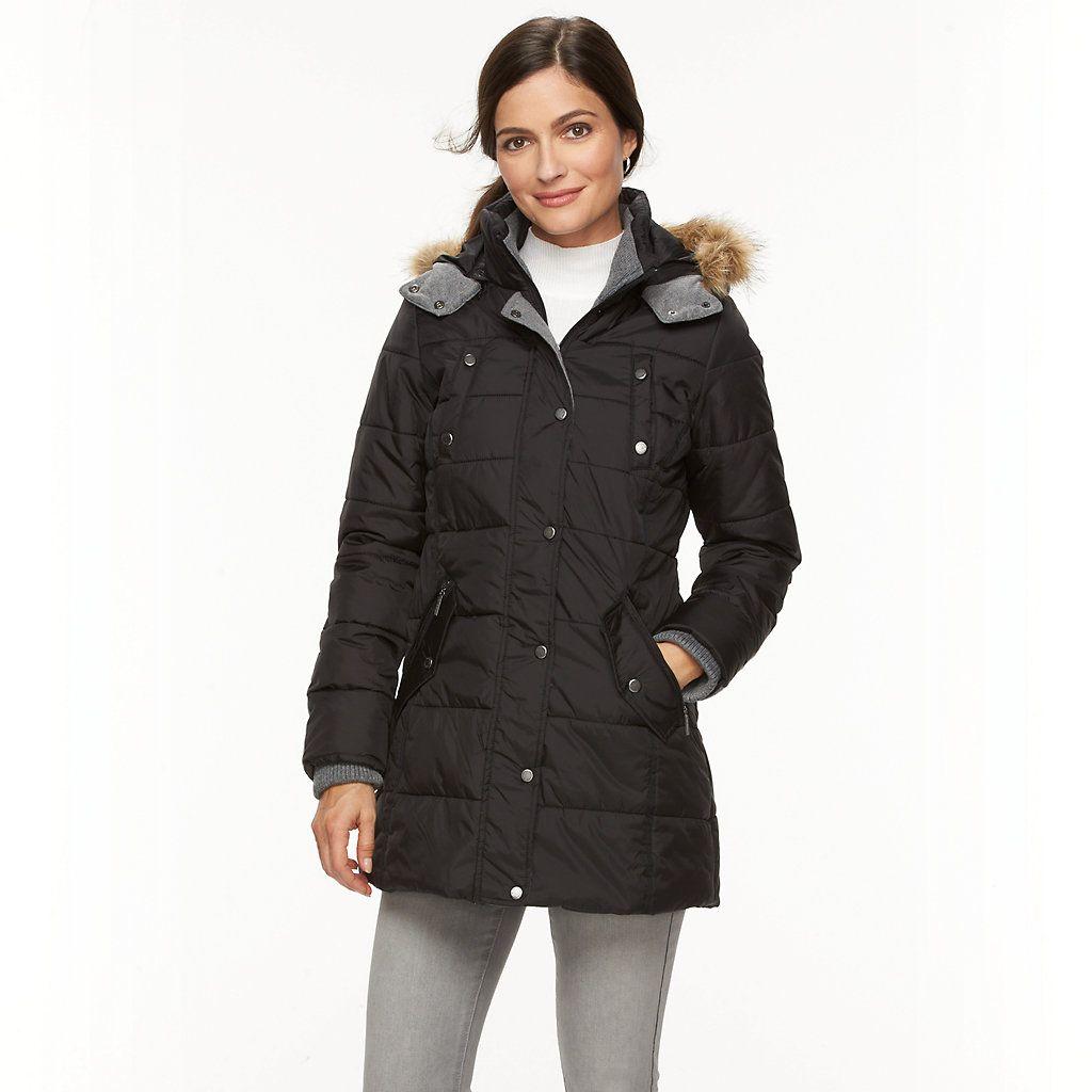 Women S Weathercast Hooded Puffer Jacket Kohls Jackets Puffer Jackets Puffer [ 1024 x 1024 Pixel ]