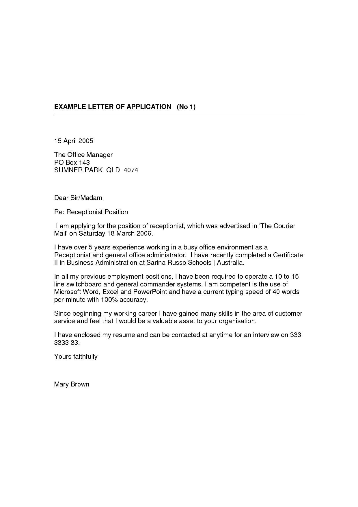 Fresh Cover Letter for Part Time Job No Experience Cover
