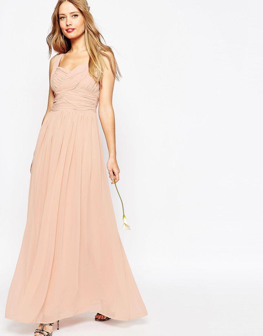 Maxi dress for wedding  ASOS WEDDING Ruched Panel Maxi Dress  Wedding Aspirations