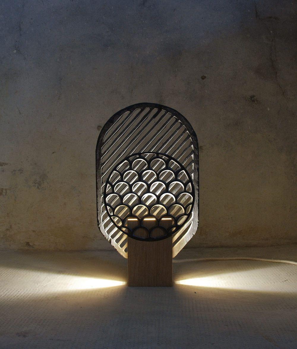 Light fixtures · designer français · lighting · esprit · projet domestiquer lardoise par frédéric saulou architecture design light my fire frederic