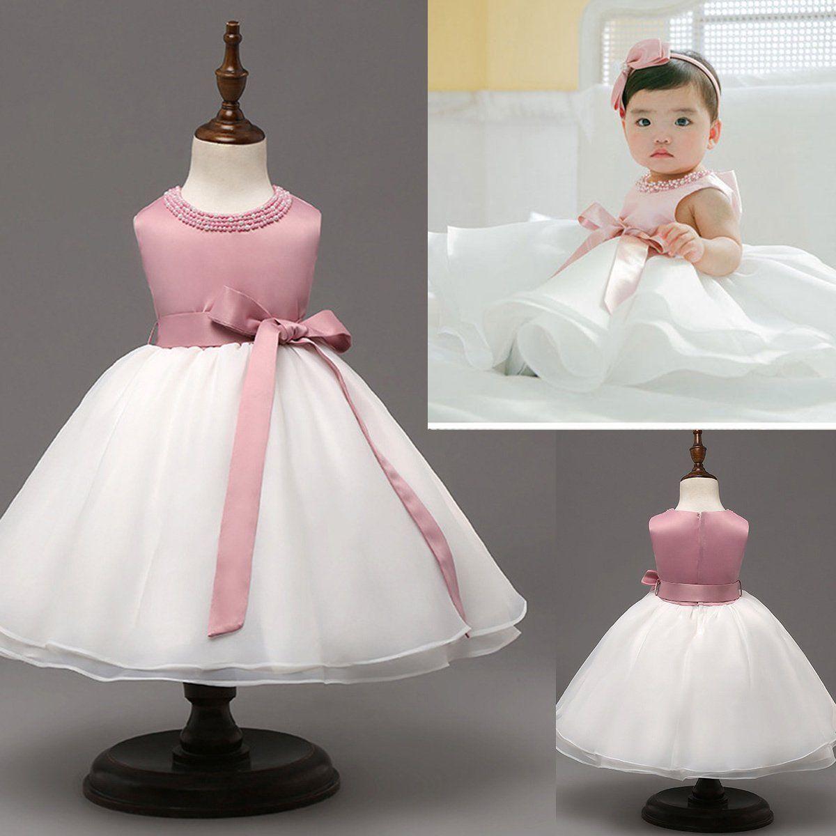 1399 Toddler Kids Baby Girls Flower Summer Princess Dress