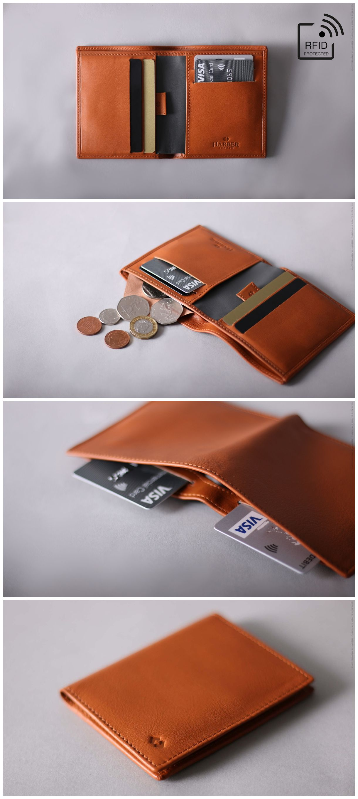 b94026485c38 RFID Leather Wallet. Our RFID Slim Bifold Wallet is handcrafted with  premium full grain leather.