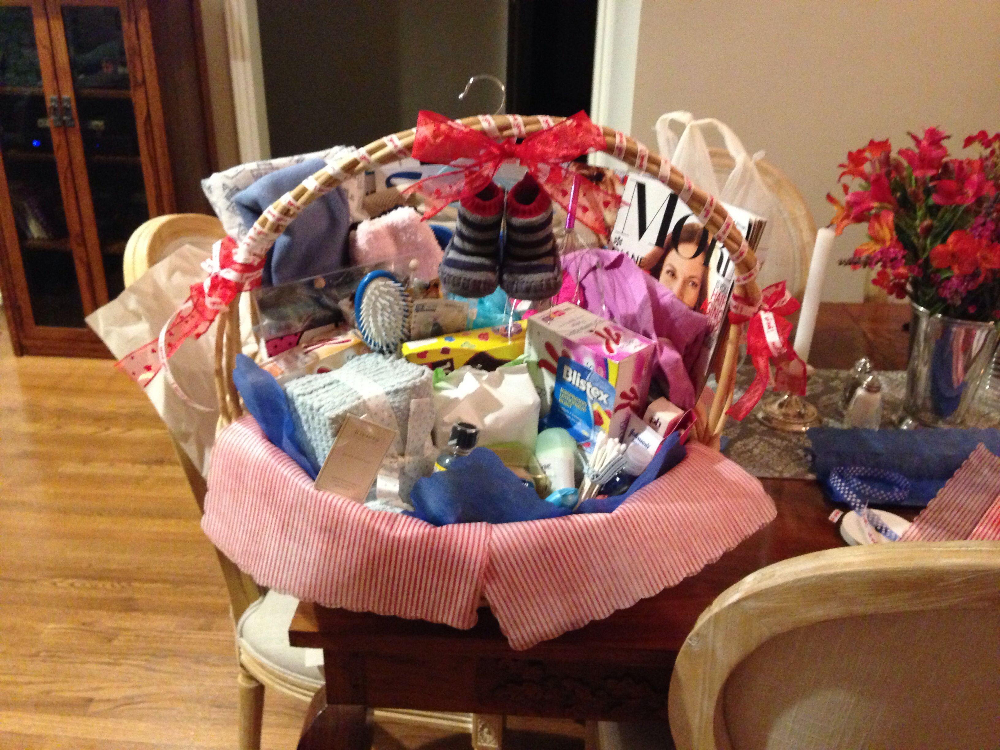 Hospital basket for new mom hospital baskets stockpile