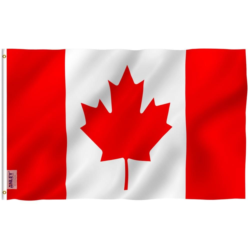 5/' x 3/' Canada with Native Red Indian Flag Canadian Maple Leaf Flags Banner