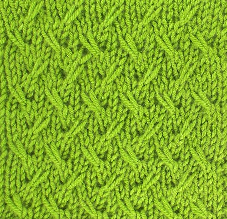 Slip Stitches Are Employed To Create A Wonderful Allover Pattern