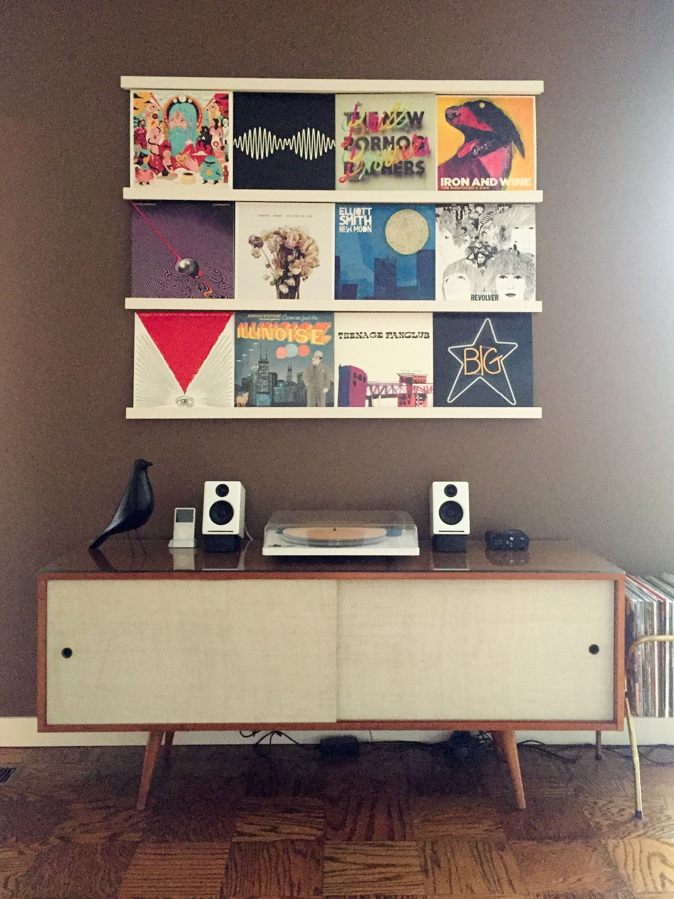 Image result for picture ledges with records vinyl room