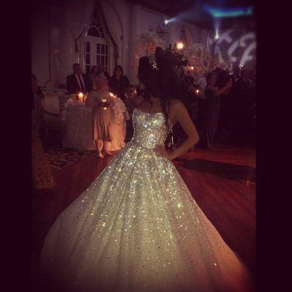 100,000 + Hand places Swarovski crystal wedding dress designed by me ...