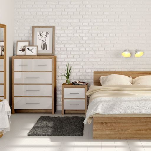 Oak And White Bedroom Google Search Oak Bedroom Furniture Oak Bedroom White Wooden Bedroom Furniture