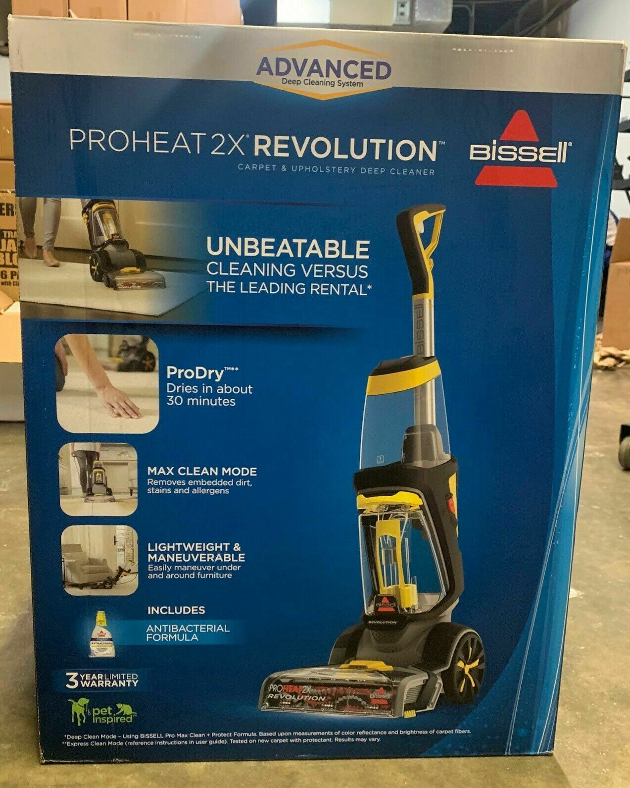 Brand New Bissell Proheat 2x Revolution With Antibacterial Formula 1551 158 00 Carpet Cleaner Ideas Upright Vacuum Cleaner Carpet Cleaners Vacuum Cleaner