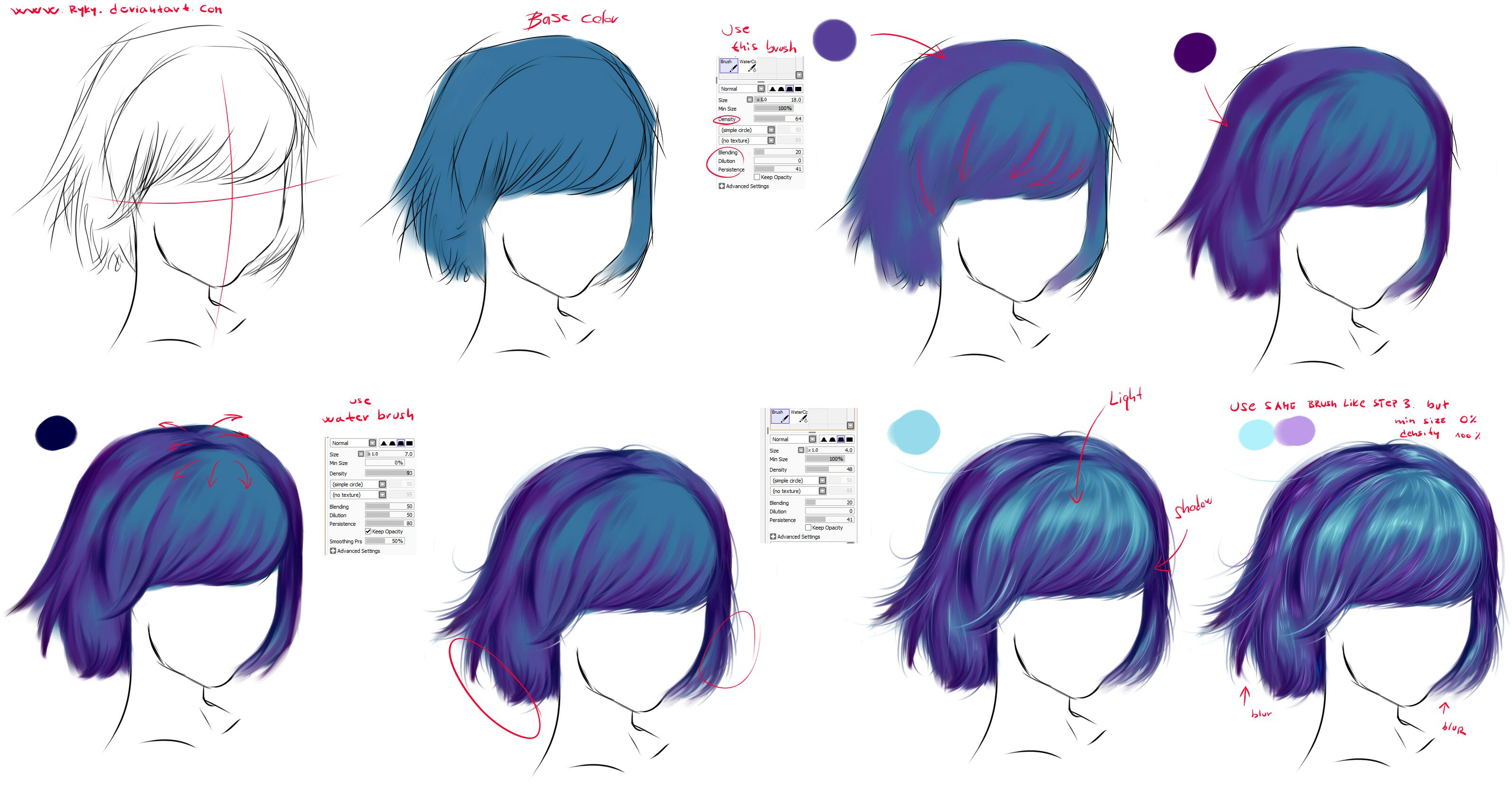 How To Draw Hair How To Draw Hair Digital Painting Tutorials Painting Tutorial