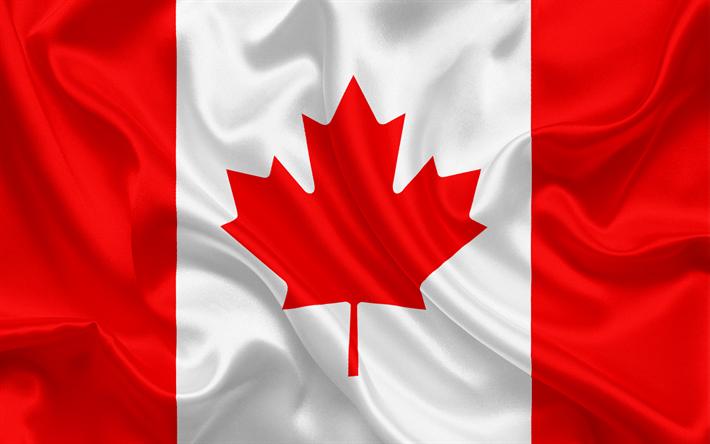 Descargar fondos de pantalla Bandera canadiense, Canadá, América del ...