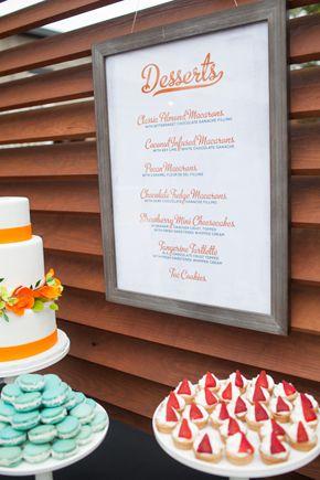 Dessert Menu Ideas Destination Wedding In Wilmington Nc