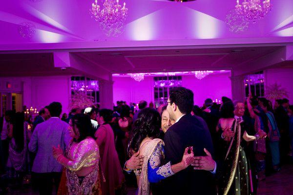 Indian couple having a great time at wedding reception http://www.maharaniweddings.com/gallery/photo/95011 @ElegantAffairs1 @svbc