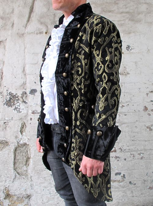 photo n°1   Veste gothique victorienne homme noir et or  6a4062986b3