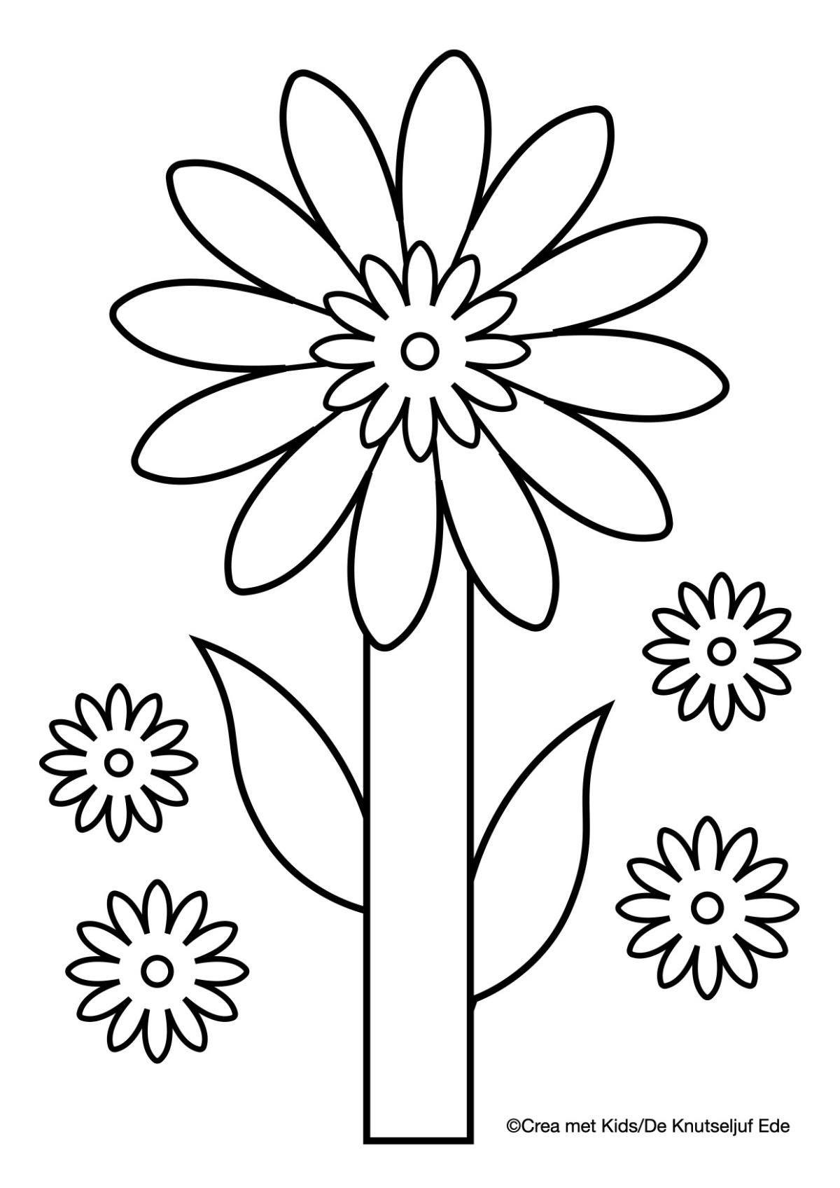 Kleurplaten Bloemen Bloemen Knutselen Kleurplaat Kleurplaten De Knutseljuf Ede Kleurplaten Bloem Kleurplaten Bloemen